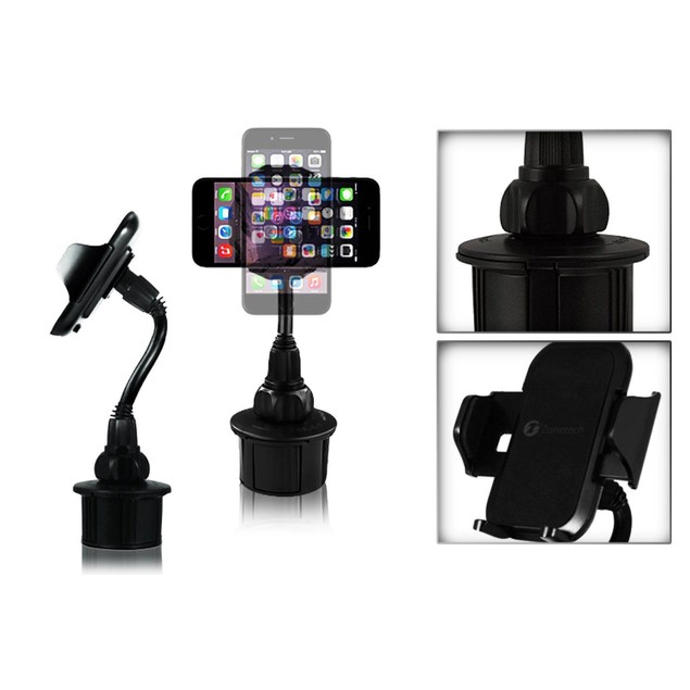 Zone Tech Car Cup Holder Mount 360 Adjustable GPS iPhone Samsung Android