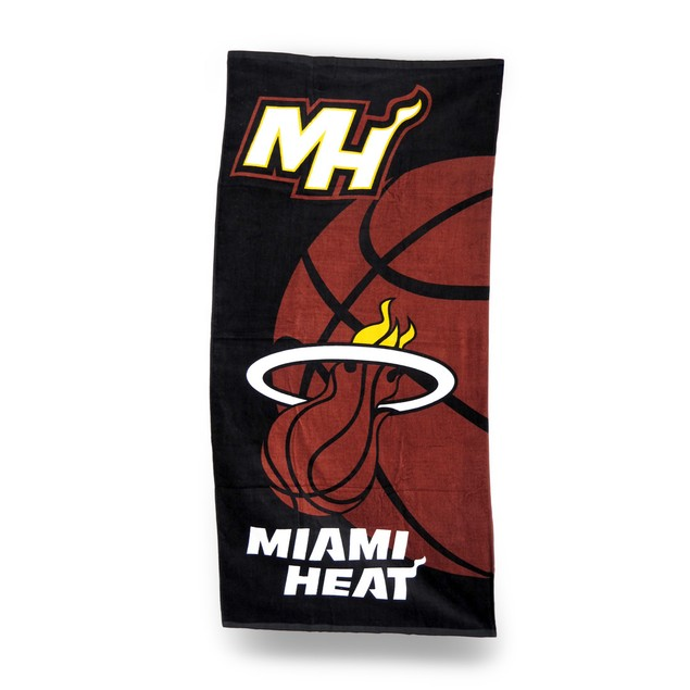 Officially Licensed Miami Heat Velour Beach Towel Beach Towels