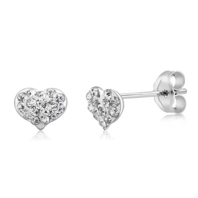5 Pairs of Sterling Silver Crystal Stud Earrings