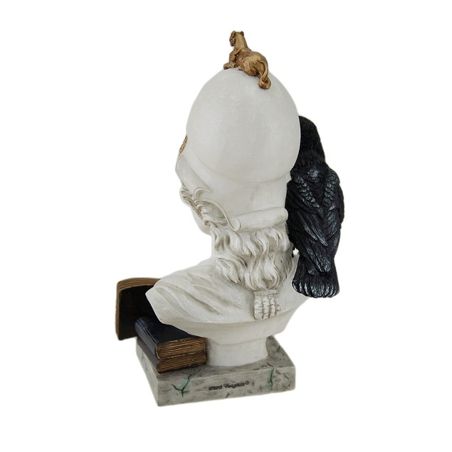 The Raven Nevermore On Pallas Athena Bust Statue Statues