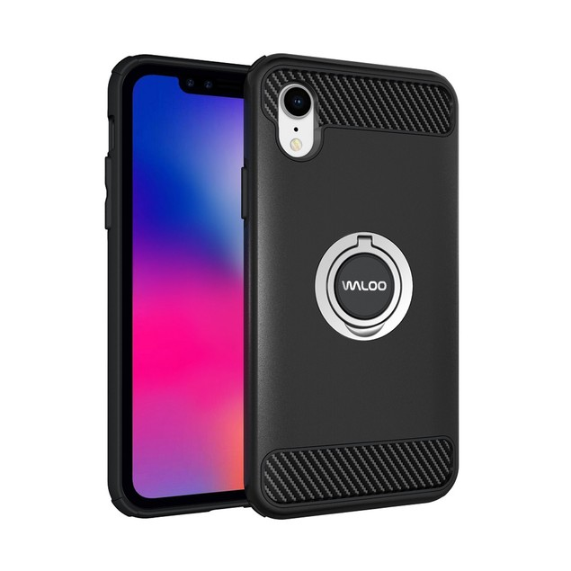 Waloo Dual Layer Carbon Fiber Case for All iPhones