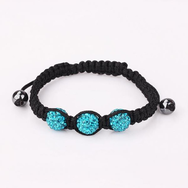 Austrian Crystal Style Bracelet - Light Sapphire