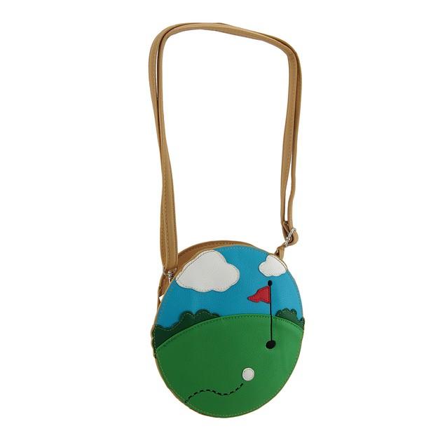 Green Golf Course Theme Cross Body Purse Womens Cross Body Bags