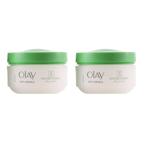2-Pack Olay Anti-Wrinkle Nature Fusion Day Cream, SPF 15, 1.7 Oz