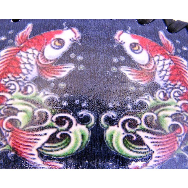 Tattoo Koi Fish Black Leather Belt Buckle Strength Mens Belt Buckles