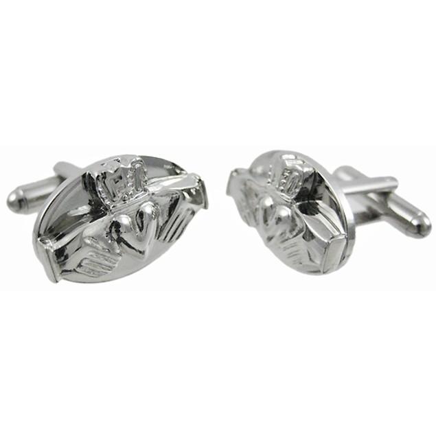 Stainless Steel Claddagh Cufflinks Cuff Links Mens Cuff Links