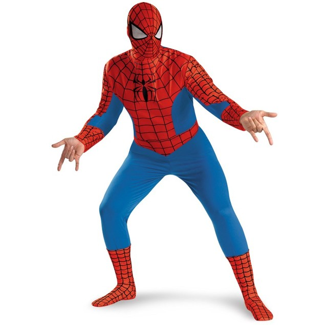 Spider-Man Deluxe Adult Costume (Size XXL 50-52)
