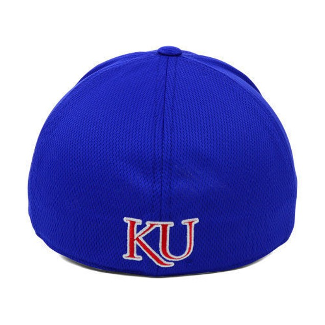 """Kansas Jayhawks NCAA TOW """"Booster"""" Memory Fitted Hat"""