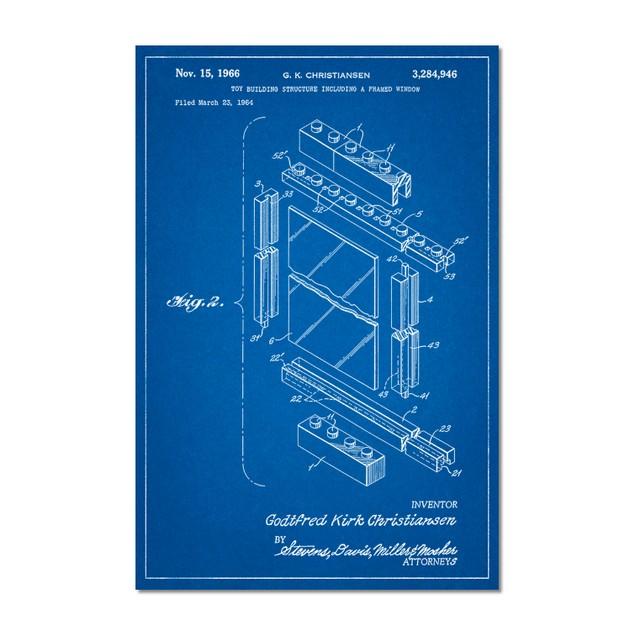 Lego Framed Window Building Kit Patent Poster