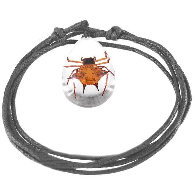 Real Scorpion Adjustable Nylon Cord Necklace Mens Pendant Necklaces