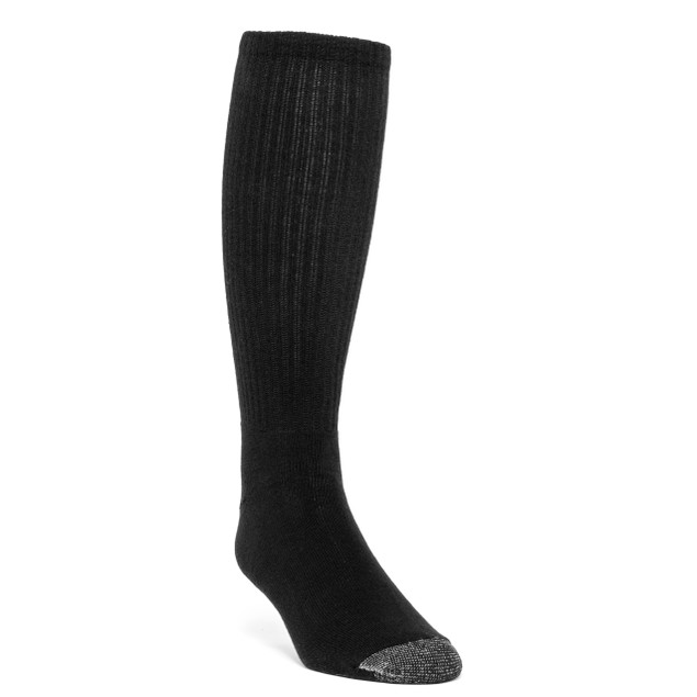 Galiva Men's Cotton Extra Soft Over the Calf Cushion Socks - 3 Pairs
