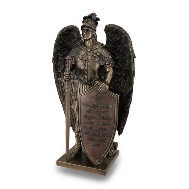 Take Up The Shield Of Faith Warrior Angel Statue Statues