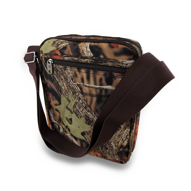 Forest Camouflage Padded Gadget/Tablet Cross Body Womens Cross Body Bags