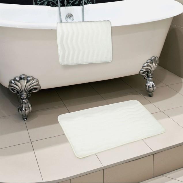 Lavish Home 2 Piece Memory Foam Bath Mat Set