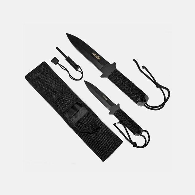 Whetston Survivor Fire Starter Survival Knife Set