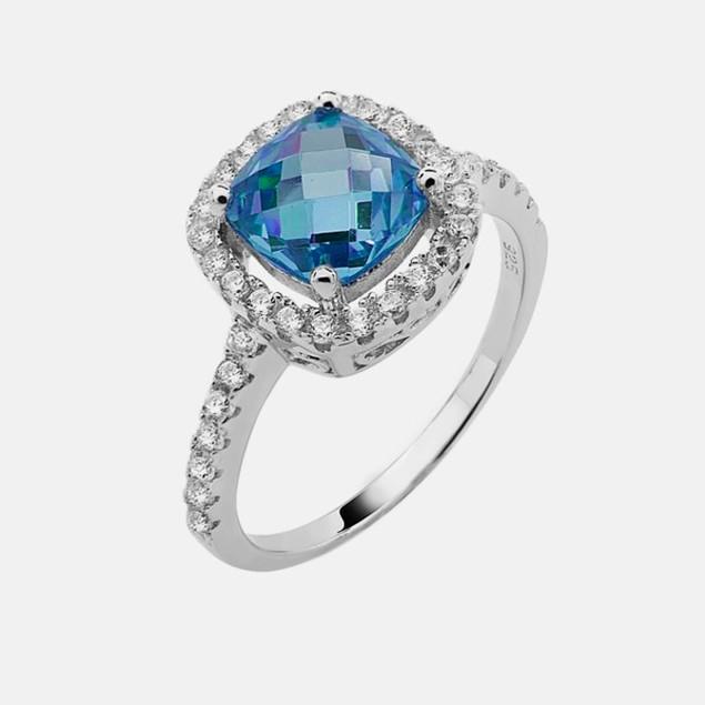 Sterling Silver Birthstone Ring - December