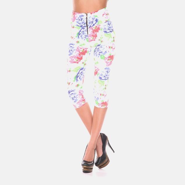Bermuda Pants - White/Pink