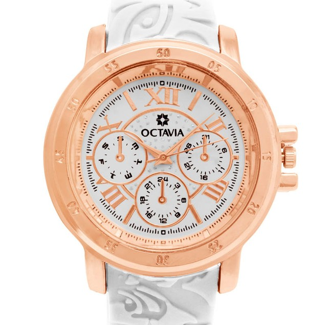 Octavia Giselle Watch - White