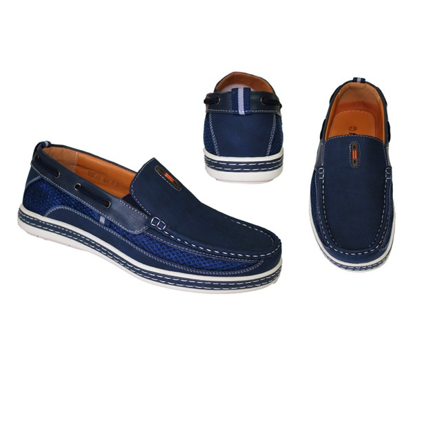 Men's Nautical-Inspired Casual Bonded Leather Slip-On Loafers