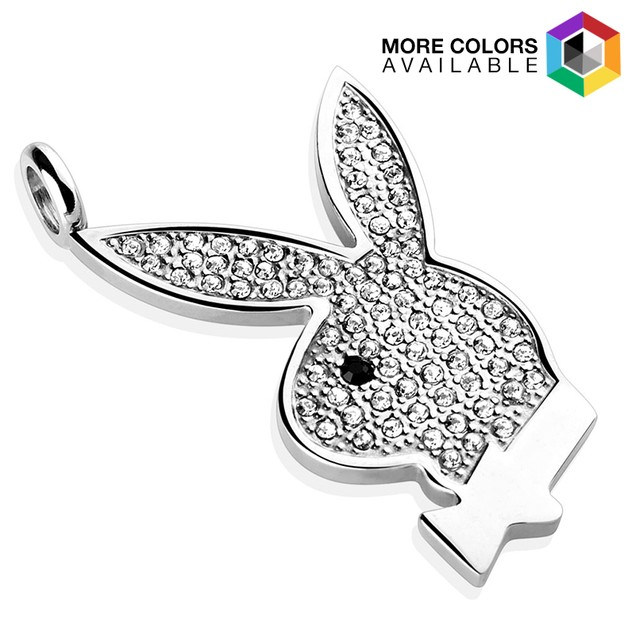Playboy Bunny 316L Surgical Steel Pendant