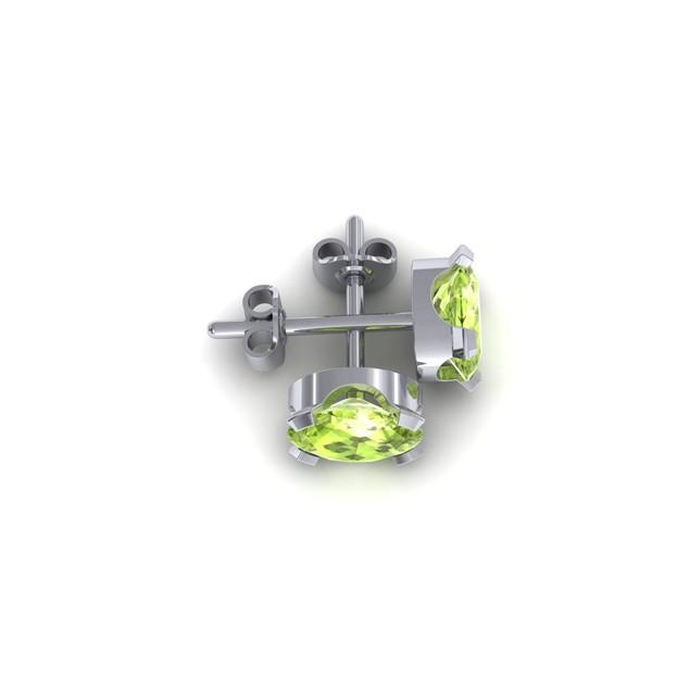 1.50cttw Oval-Cut Peridot Necklace & Earring Set In Sterling Silver