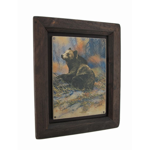 Big Sky Carvers Grizzly Bear Settling Down Wood Prints