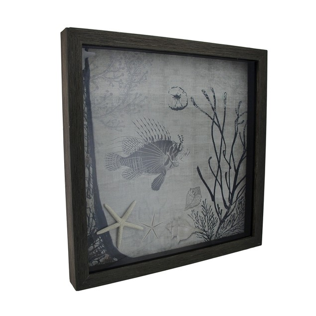 Under The Water Lionfish And Starfish Decorative Decorative Plaques