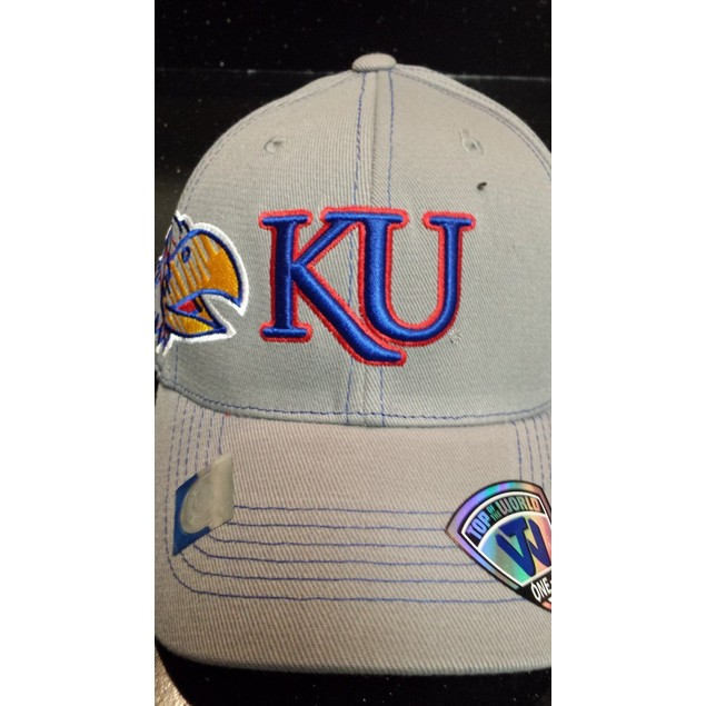 """Kansas Jayhawks NCAA TOW """"Sketched"""" Stretch Fitted Hat"""