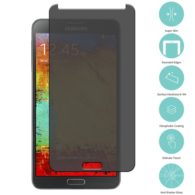 Samsung Galaxy Note 3 N9000 Privacy Tempered Glass Film Screen Protector
