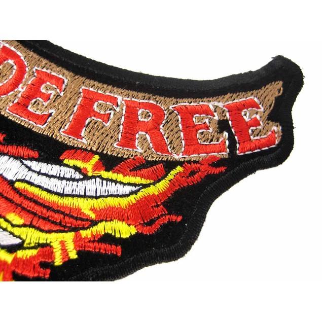 Live Free Ride Free American Eagle Biker Vest Applique Patches