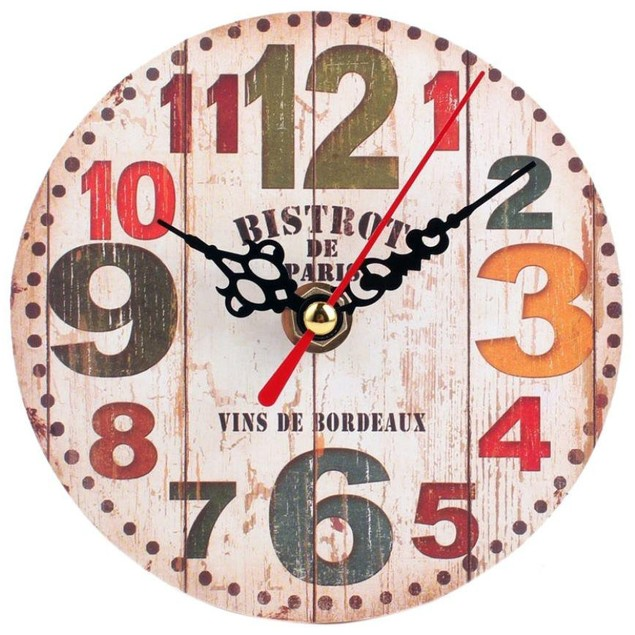 Vintage Style Round Wall Clock - Choose Style