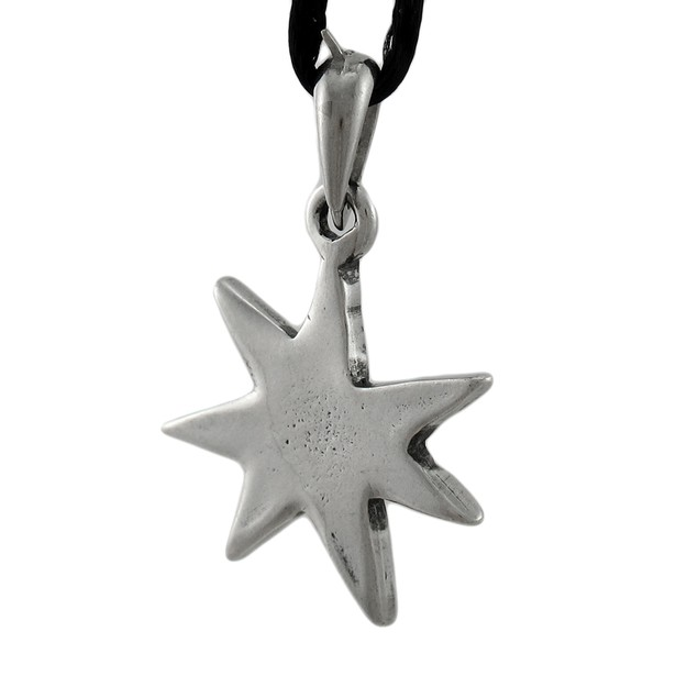 Elven Star 7 Pointed Heptagram Pendant W/ Cord Mens Pendant Necklaces