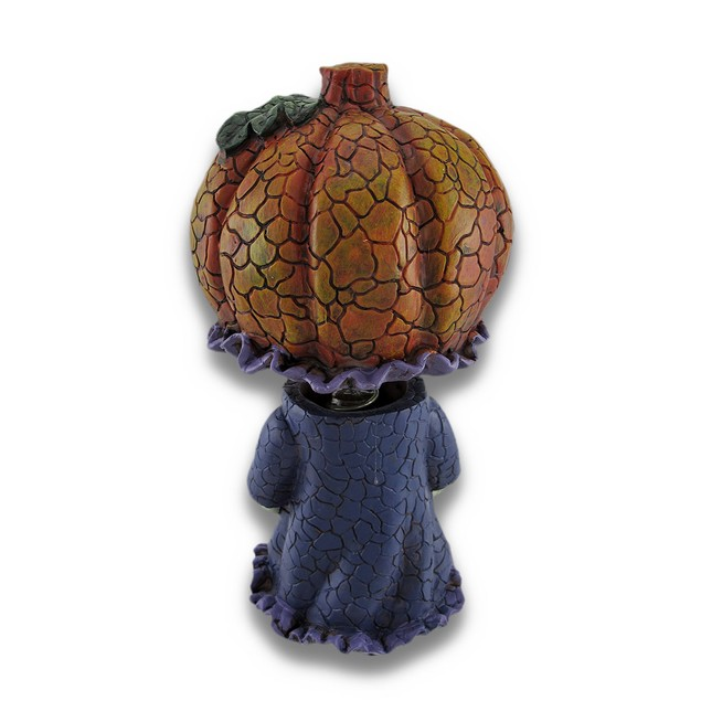 Girl Pumpkin Bobble Head Figurine Decor Statues