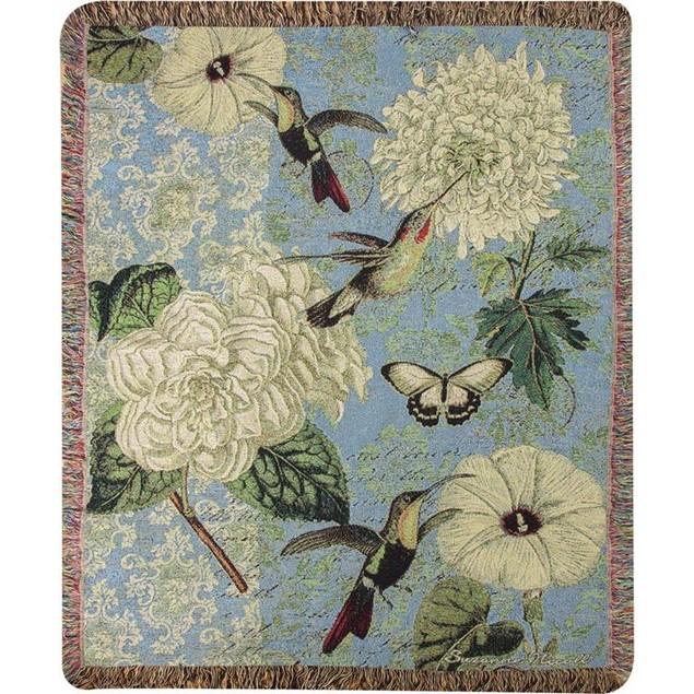Hummingbird Flutter 50 X 60 Inch Tapestry Throw Throw Blankets