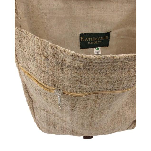 Natural Color Hemp Bag With Buddha Mens Cross Body Bags