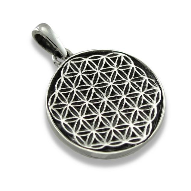 Sterling Silver Flower Of Life Pendant/Charm Pendants