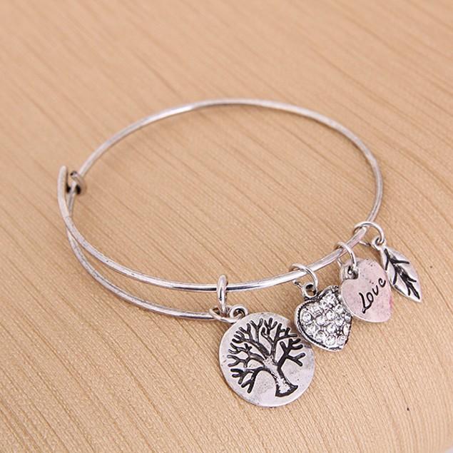 Tree of Life Charm Bangle Bracelet