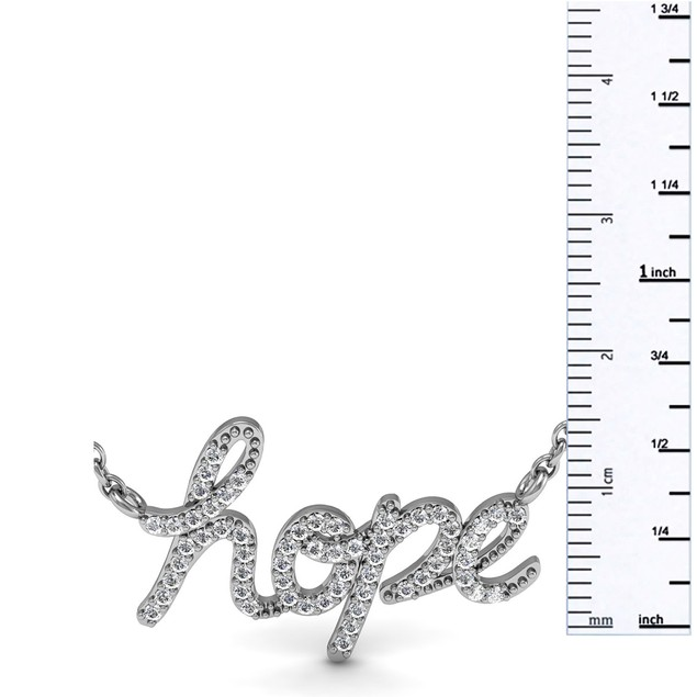 Sterling Silver 1/2 Carat Diamond Hope Necklace