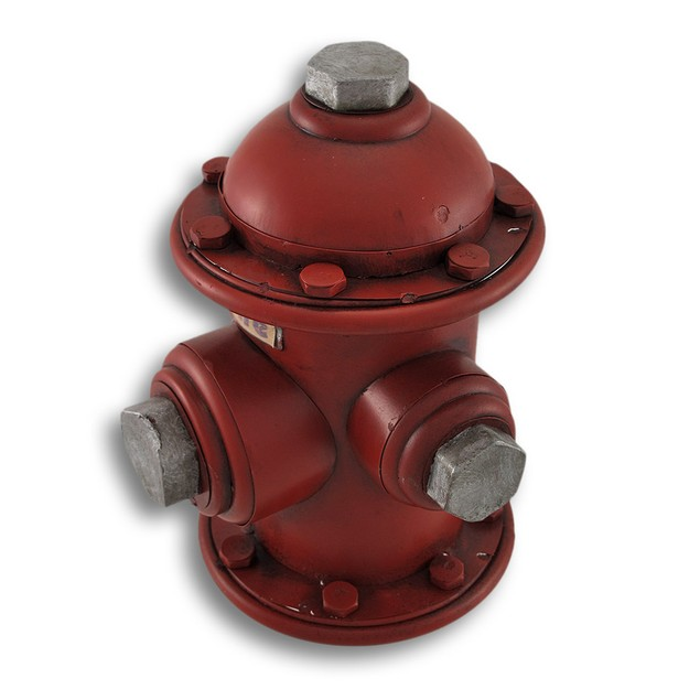 Vintage Look Metal Fire Hydrant Coin Bank Money Toy Banks