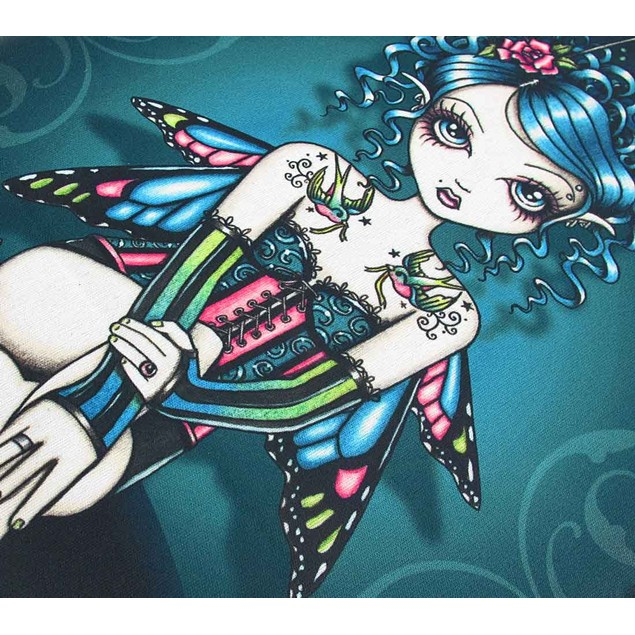 Jewel Tone Tattooed `Gracie` Gothic Fairy Neoprene Touch Screen Tablet