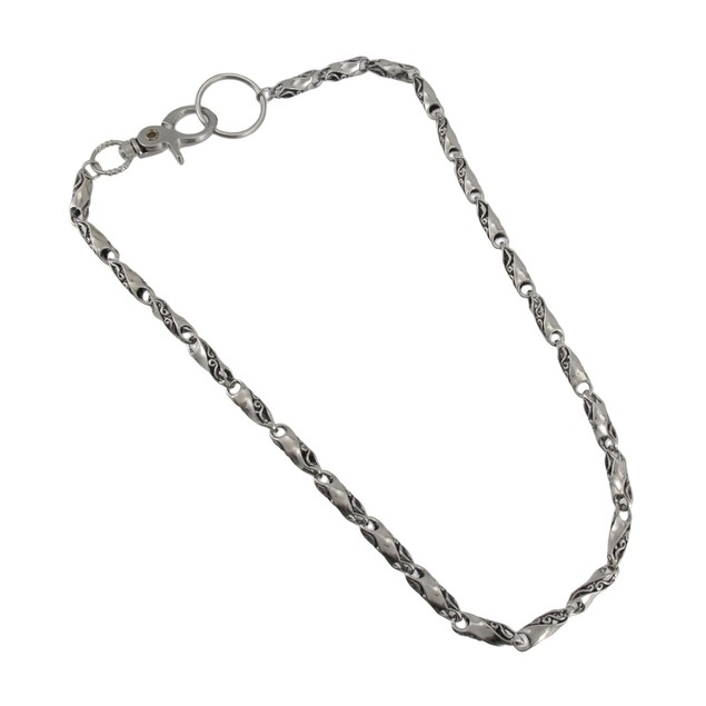 Chrome Plated Twisted Bar Link Wallet Chain Jeans Mens Wallet Chains
