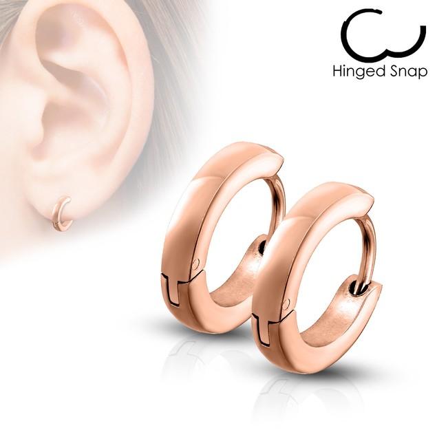 8mm Stainless Steel Huggie Hoop Earrings - 5 Colors