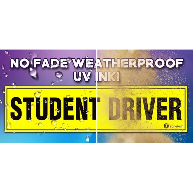 Zone Tech Student Driver Magnet Magnetic Car Safety Sign Bumper Decal