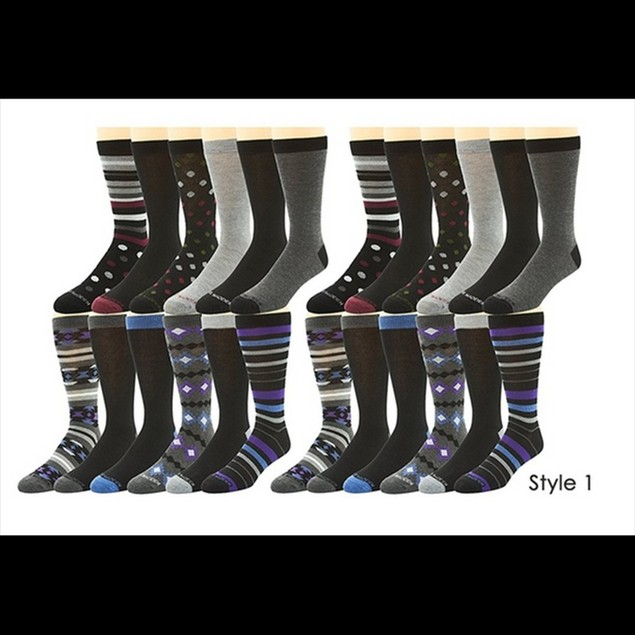24-Pairs: Steve Madden Men's Dress Socks