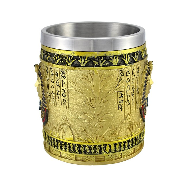 Egyptian Pharaoh Golden Coffee Mug 12 Oz. Coffee Cups