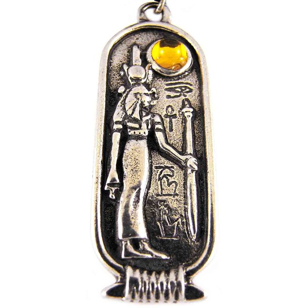 Egyptian Birth Sign Isis Pendant Cord Necklace Mens Pendant Necklaces