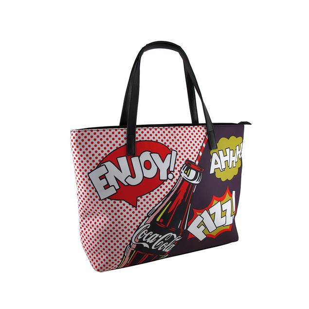 Coca Cola Colorful Pop Art Style Tote Bag Womens Tote Bags