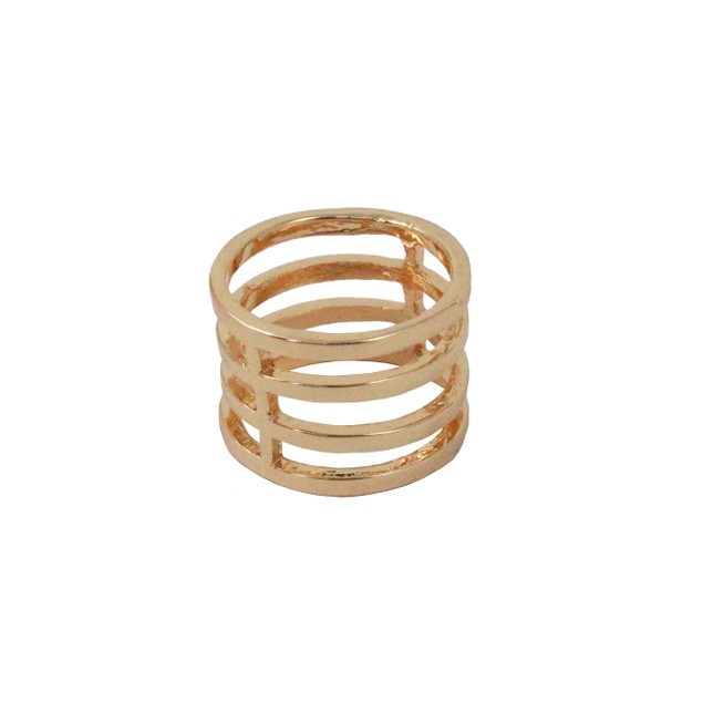 Gold Tone Cage Ring