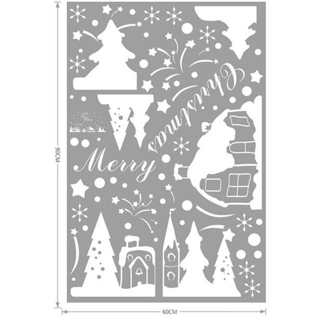 Christmas Wall Stickers Christmas Snowflakes Town