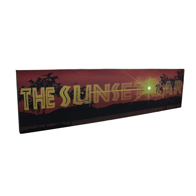 The Sunset Bar Led Lighted Canvas Wall Hanging Prints